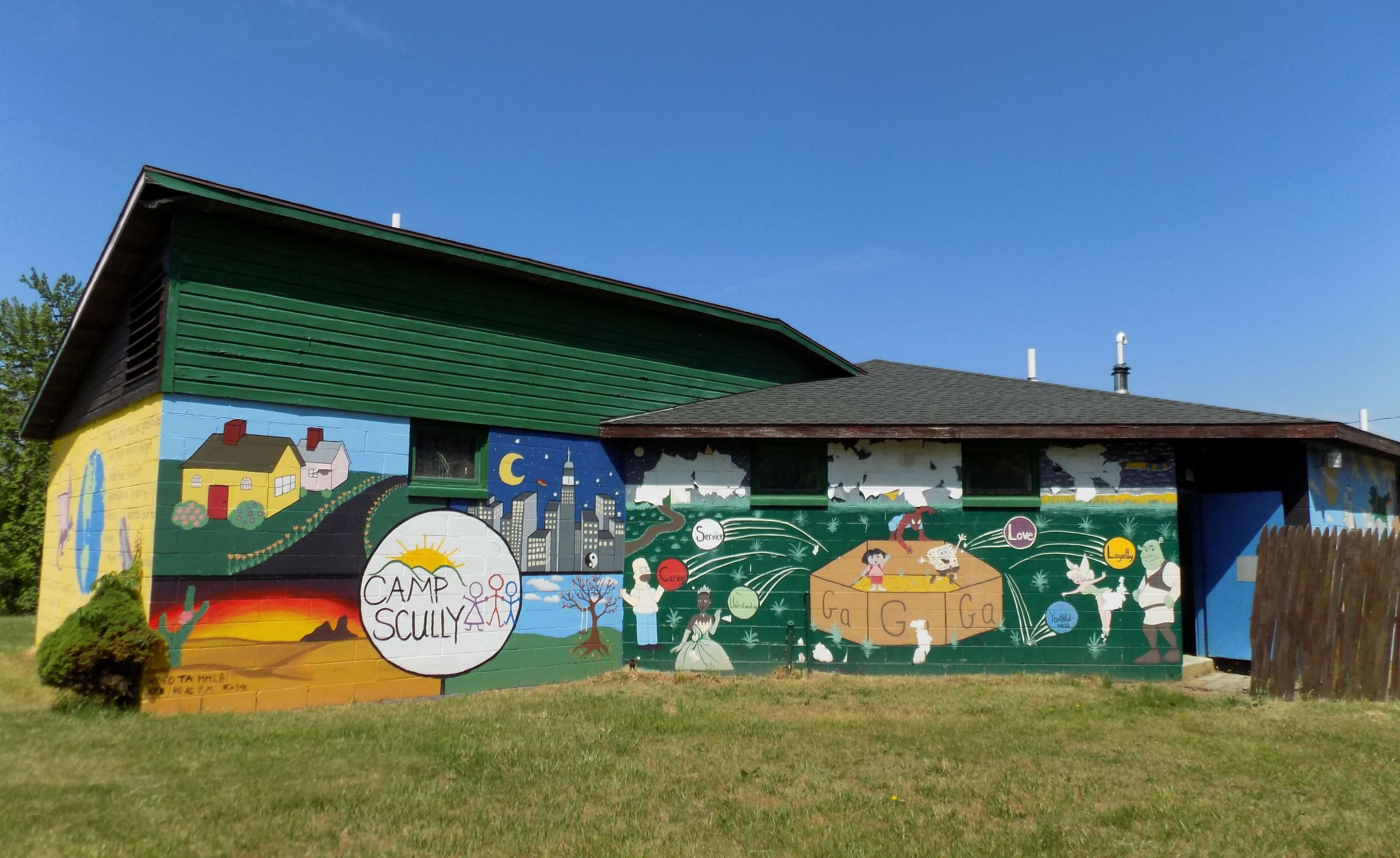 Camp Scully Building and Mural